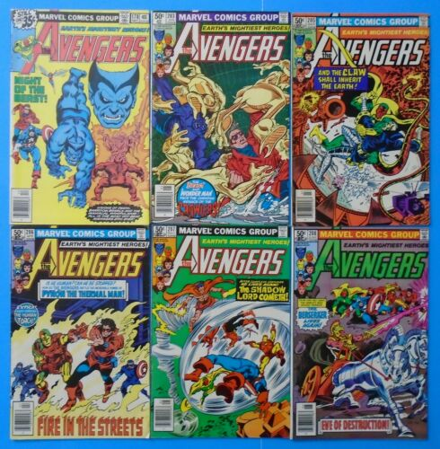 MARVEL AVENGERS #178 203 205 206 207 208 BRONZE AGE COMIC BOOK LOT RUN