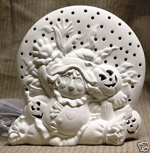 Ceramic bisque scarecrow light duncan mold 1903 u paint for Bisque ceramic craft stores