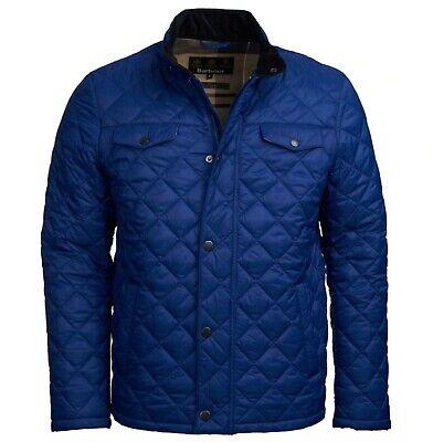 Barbour Sam Heughan Men's Inky Blue Dean Quilted Full Zip Jacket $249