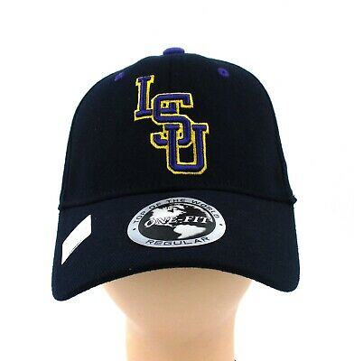 Lsu Tigers Black Purple Gold One-Fit Cap Hat Officially Licensed Brand New (Lsu Fitted Hats)