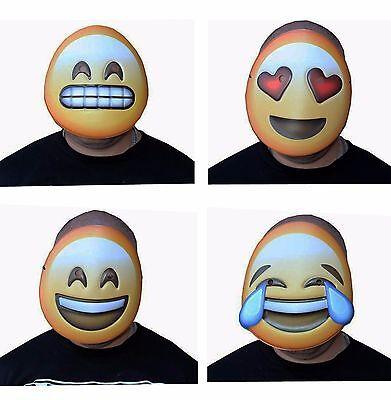ji Vacuform Party Masks Halloween Fun Masks (Pack of 4) (Halloween Emoji)