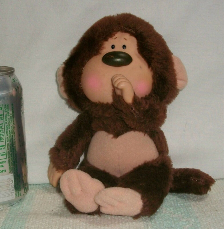 * Vintage 1984 EMOTIONS Stuffed MATTEL Plush MONKEY Thumb Sucking