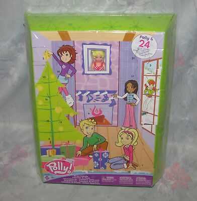 Mattel 2004 Polly Pocket Snow Cool Advent Calendar New Sealed - 1 Doll, Clothes