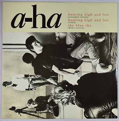 """A-HA - Hunting High And Low (Extended Version) UK 12"""" Near Mint - Synth-pop"""
