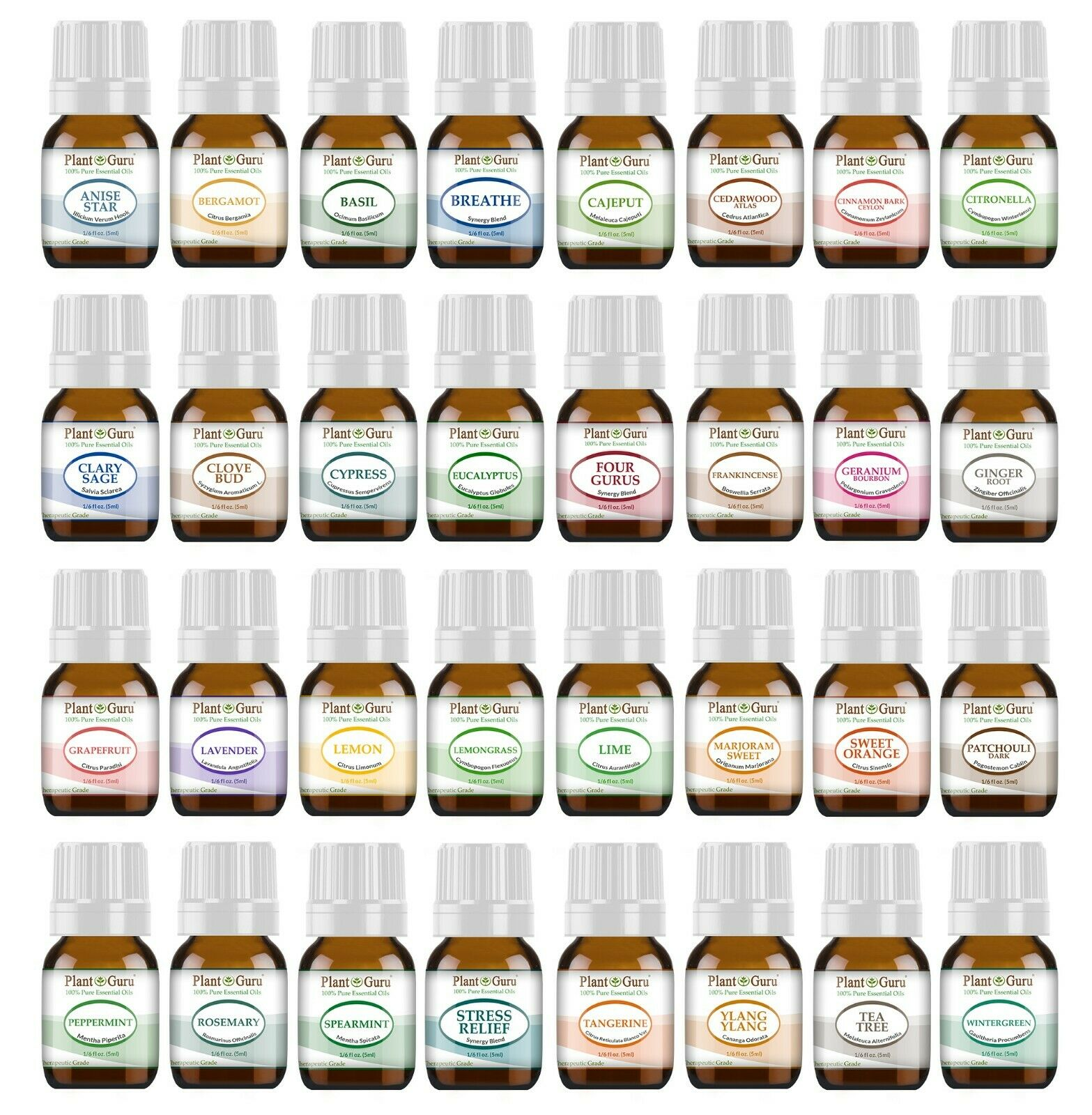 Essential Oil Set 32 - 5ml Kit With Blends 100% Pure Therape