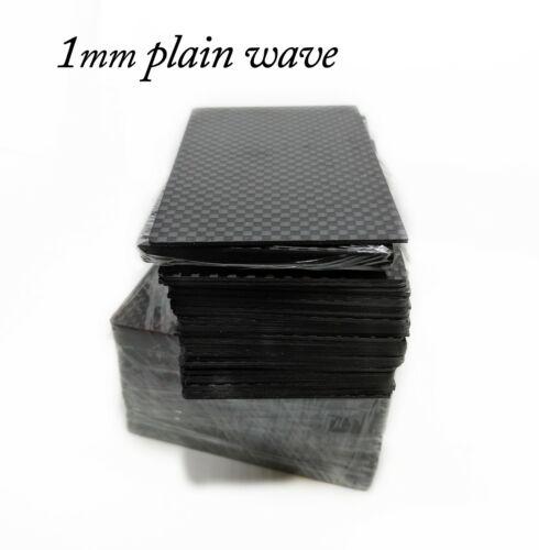 1mm Thick 100% 3k Carbon Fiber Blank Business card Size Plain Wave 100 Lot