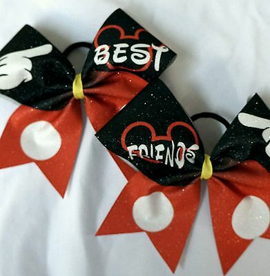 Cheer Bow -  Mickey Best Friends Set  Glitter  - Hair
