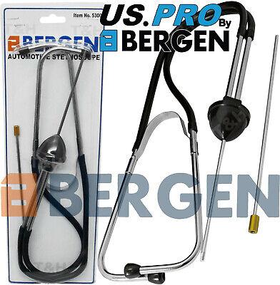 BERGEN Automotive Stethoscope Mechanics Stephoscope Engine Diagnostic Tool Probe