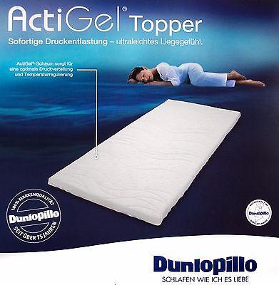 Dunlopillo ActiGel® Topper 90 x 200,Gelschaum,Matratzenauflage Auflage Uvp 159 €