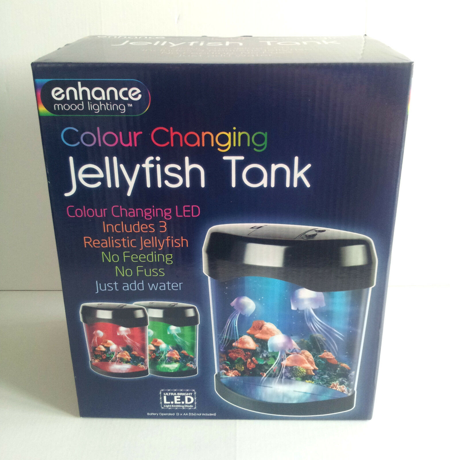 jellyfish light up tank 3 realistic colour changing enhance
