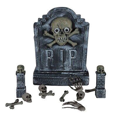 Halloween-friedhof Dekorationen (Halloween Friedhof Friedhof Grabsteine+Karosserie Set Kostüm Dekoration)