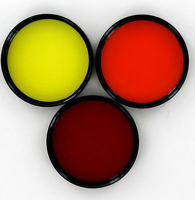 Vivitar 48mm red, orange, & yellow (set of 3 contrast filters) new old stock