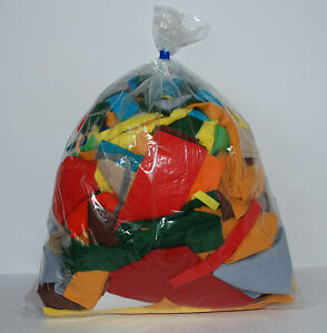 500g-ASSORTED-FELT-OFF-CUTS-TRIMS-SCRAPS-30-wool-70-synthetic