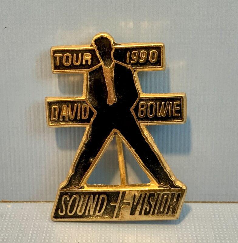 Authentic David Bowie Sound & Vision 1990 Tour Pin Excellent Condition
