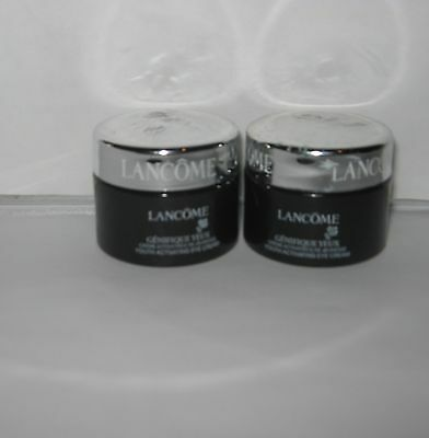 2 Lancome Genifique YEUX  youth Activating Eye Cream .20 oz each jar FRESH New