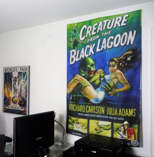 CREATURE FROM THE BLACK LAGOON vintage classic horror movie poster wall decor