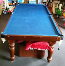 8' x 4' Slate Pool Billiard Table Blue Felt Keilor Downs Brimbank Area Preview