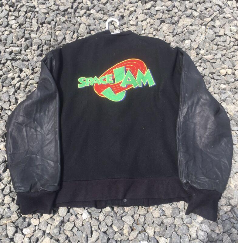 Vintage 1996 Space Jam Animation Film Crew Varsity Jacket Size XxL