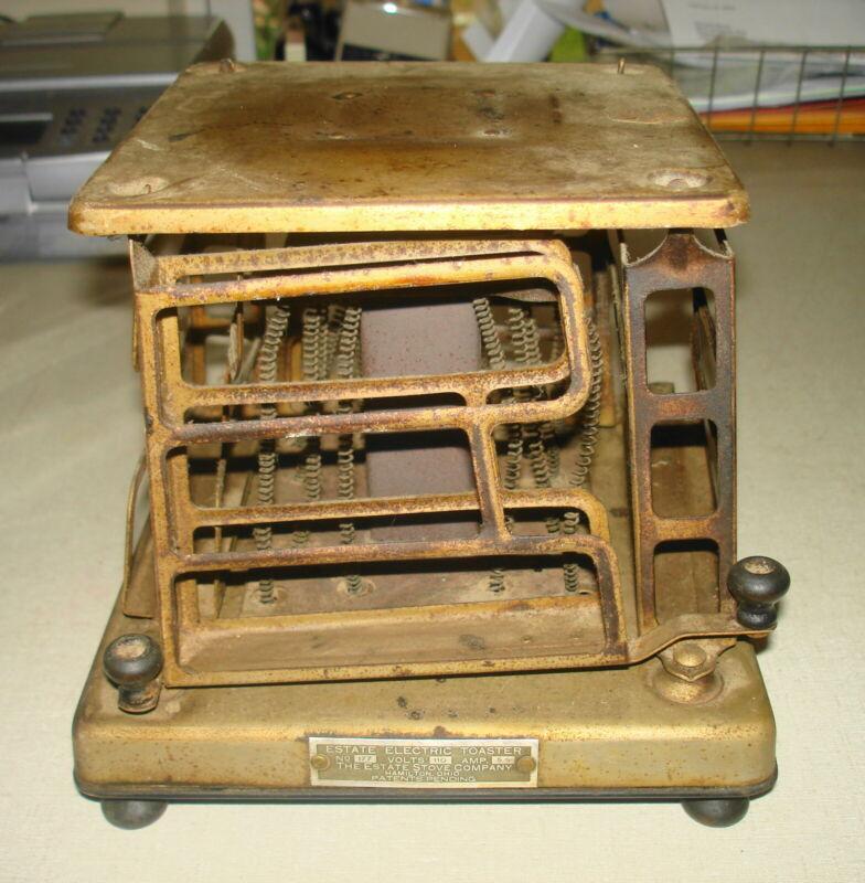 Vintage ELECTRIC TOASTER - 1925 ESTATE STOVE CO 4 Slice #177 Hamilton OH Swing