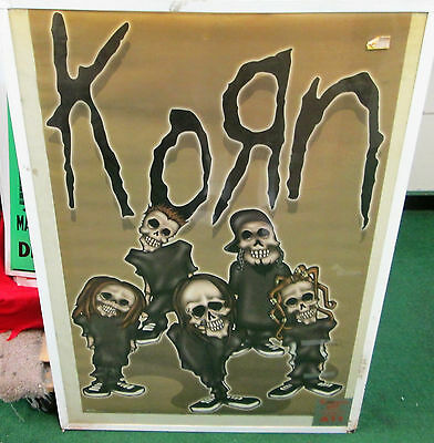 KORN POSTER VINTAGE RARE NEW SEALED MID 2002 ROCK  METAL JONATHAN DAVIS LIVE