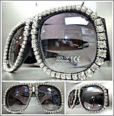 Oversized Exaggerated Retro Style SUN GLASSES Super Thick XL Unique Bling (Super Sun Glasses)