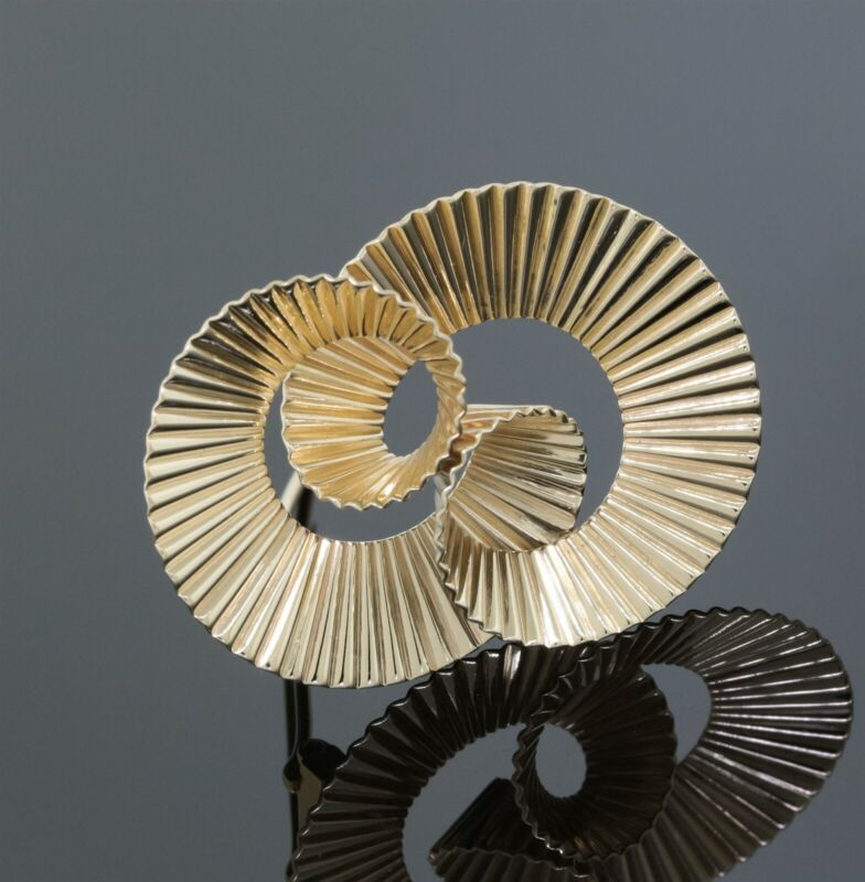 Tiffany & Co. Vintage Art Deco 14K Yellow Gold Ribbon Swirl Pin/Brooch