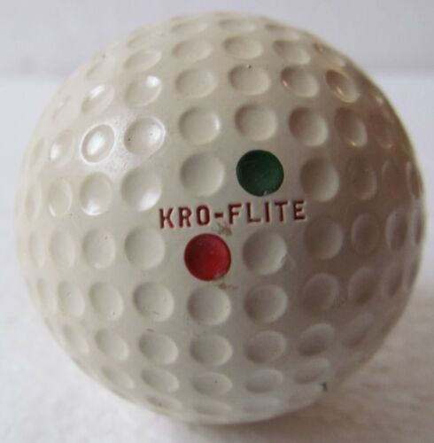 UNUSED SPALDING KRO-FLITE DIMPLE DOUBLE DOT GOLF BALL W/CADWELL-GEER COVER