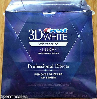 CREST LUXE 3D White Professional Effects Whitestrips Teeth Whitening Strips NEW on Rummage