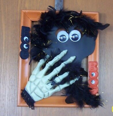 CUTE BLACK GHOST SKELETON HAND WALL FRAME HOME OFFICE DECORATION UNIQUE HANDMADE](Cute Halloween Frames)