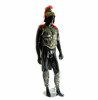 Roman Greek Soldier Army Helmet Chest Armor Leg Adult Halloween Costume