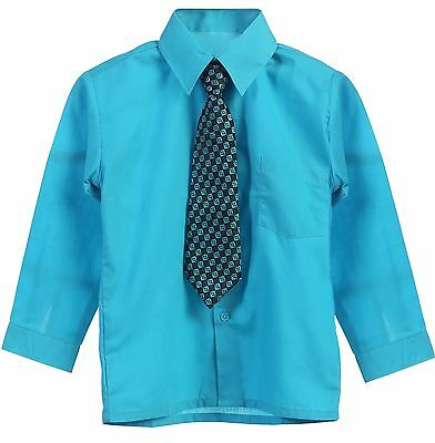 Dress Shirt And Tie Toddler Boy Long Sleeve Solid Button