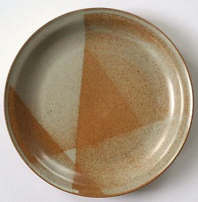 Iron Mountain Stoneware White Top Dinner Plate Usa Made 11