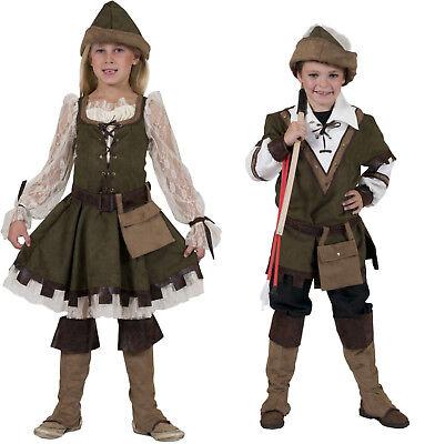 5tlg Kinder komplett Kostüm ROBIN HOOD Jungen Mädchen Larp Mittelalter Jäger