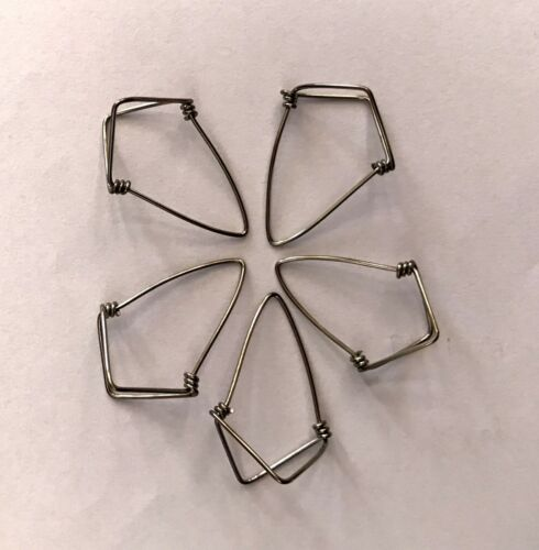 5 High Grade Extra Large Gents Steel Metal Sitar Mizrab Handmade Mizraf Plectrum