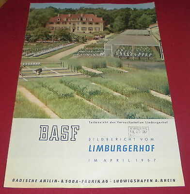 prospekt heft alt BASF bild bericht landwirtschaft  dünger reklame werbung 1957