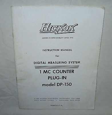 Hickok Model Dp-150 1 Mc Counter Plug-in Instruction Manual Wschematics