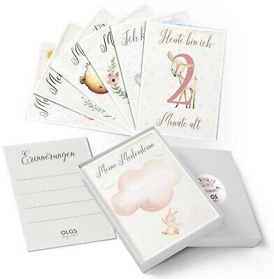 40+1 Meilensteinkarten Geschenkidee zur Geburt, Taufe, Babyparty Junge / Mädchen (Taufe Karten)