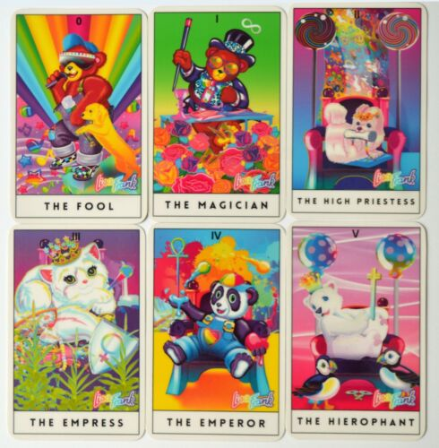 Lisa Frank - 22 Tarot Cards (22 Major Arcana) - Compact deck