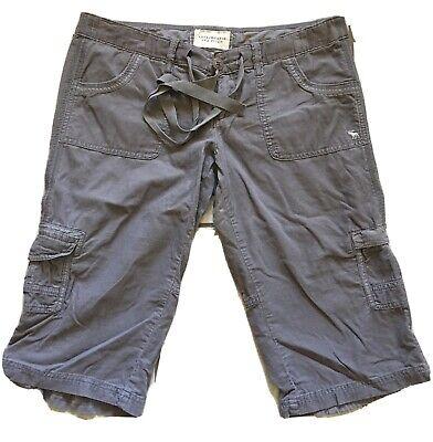 Abercrombie Fitch Womens Size 8 Gray Capri Pockets