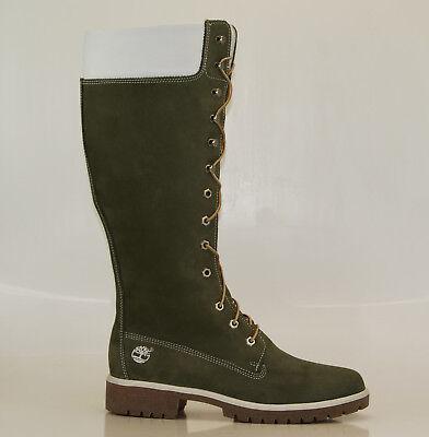 Timberland 14 Inch Premium Boots Gr 41,5 US 10W Damen Stiefel Schnürstiefel  (Damen Weiß Timberland Boots)