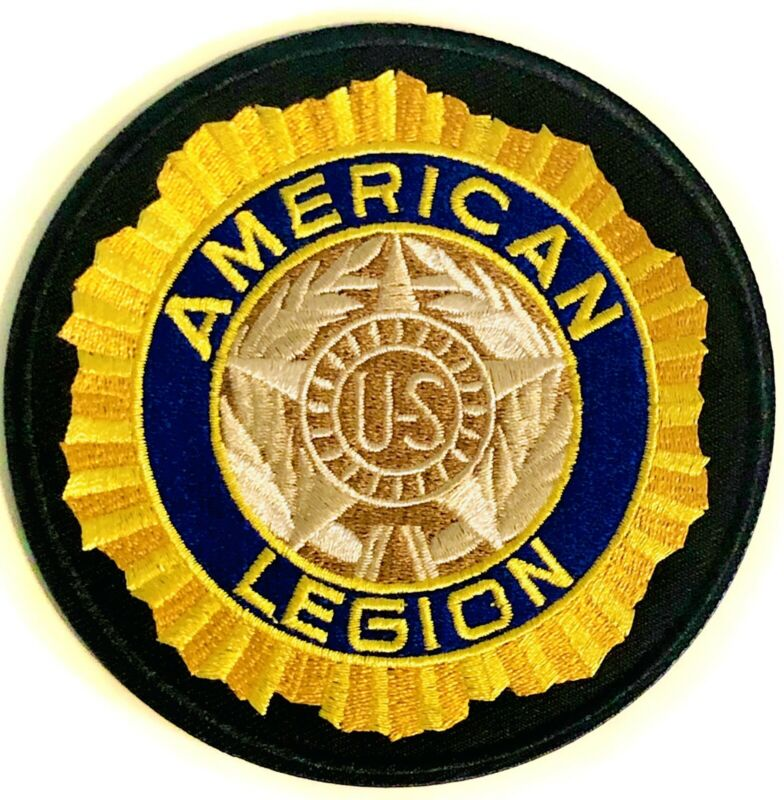 AMERICAN LEGION Patch US Center Sew Or Iron On Embroidered Military