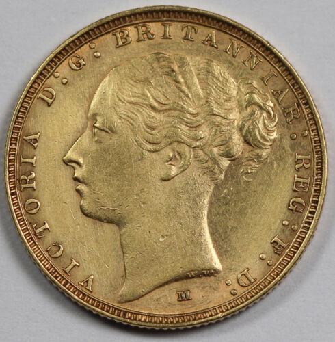 Australia 1886 M 1 Sovereign Sov Gold Coin Sydney Victoria Young Head AU KM#6