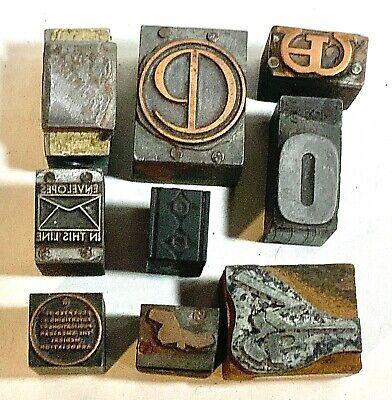 Vintage Newspaper Printing Blocks Letters Text Logo Lot 1 Plate Type