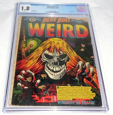 Blue Bolt #115 CGC Universal Grade Comic Book Weird Tales Class Skull Cover Fear