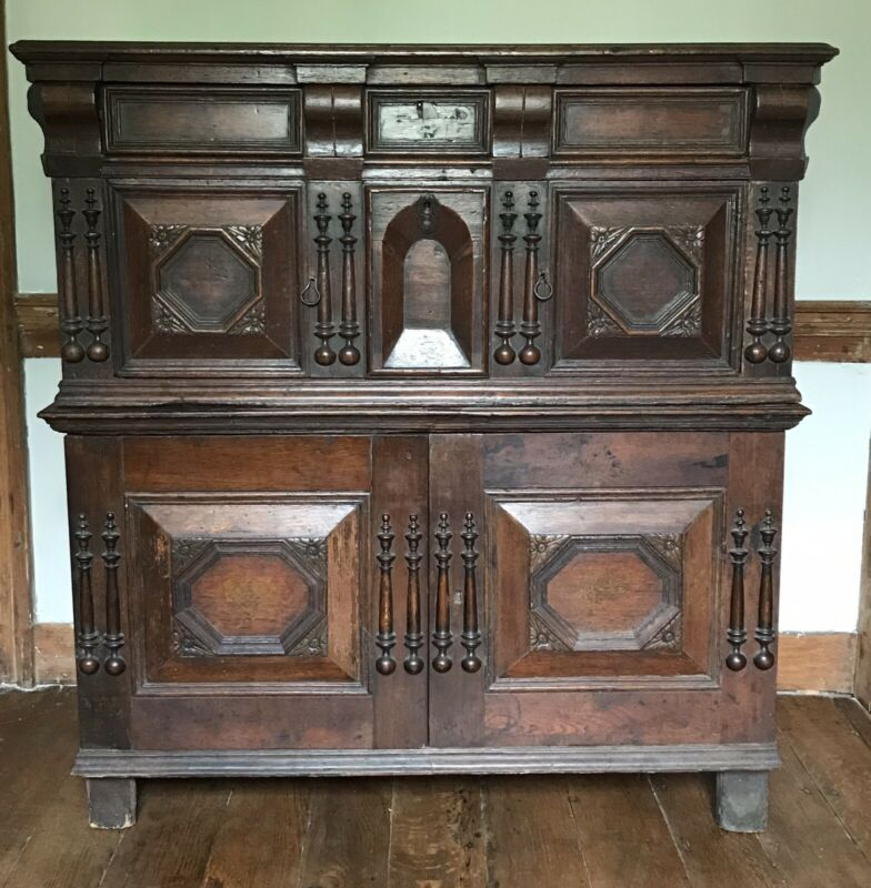 Rare 17th Century Court Cabinet Original Condition 1635-60
