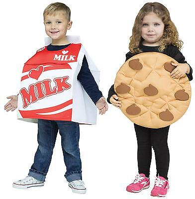 BOYS GIRLS BEST FRIENDS MILK AND COOKIES COSTUME FW130751 - Best Girl Halloween Costume