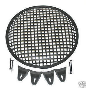12 INCH SUBWOOFER SPEAKER COVERS WAFFLE MESH GRILL GRILLE PROTECT GUARD W/ Clips