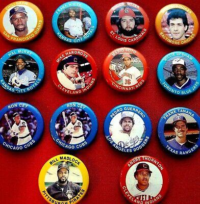 1984 Fun Foods Baseball Pins lot of 5 Kansas City Royals