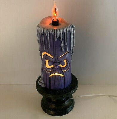 Vtg Ceramic Halloween Candlestick Anthropomorphic Haunted Mansion Flickering