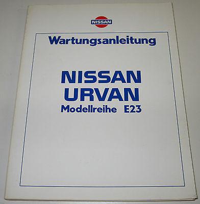 Nissan Vanette C120 Werkstatthandbuch Wartungsanleitung Auto & Motorrad: Teile Auto & Verkehr